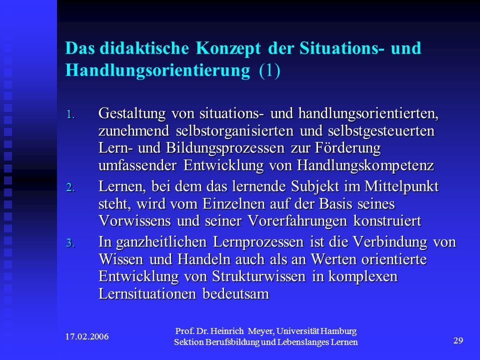 Das didaktische Konzept der Situations- und Handlungsorientierung (1)