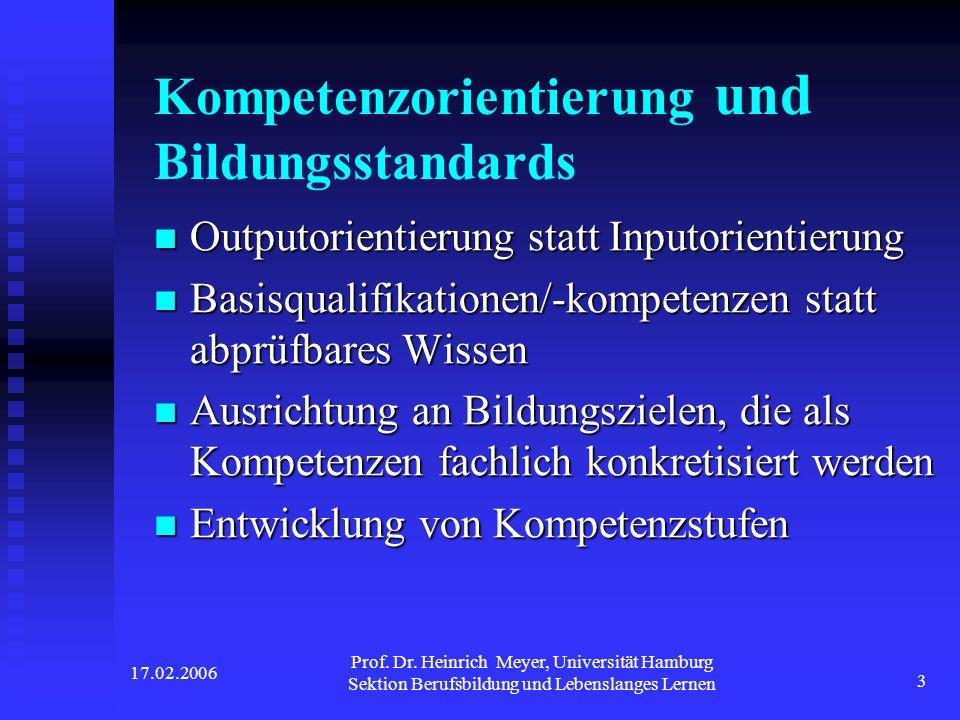 Kompetenzorientierung und Bildungsstandards