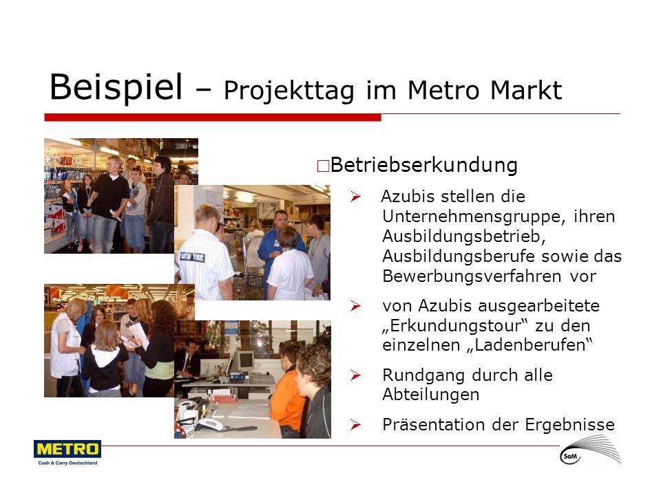 Beispiel – Projekttag im Metro Markt