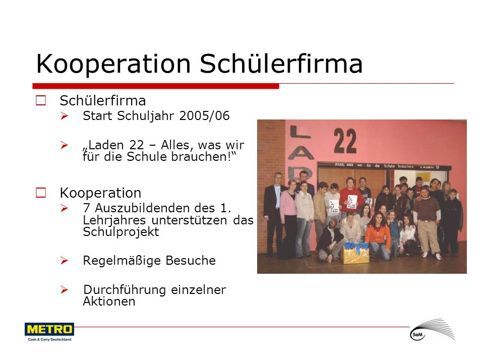 Kooperation Schülerfirma
