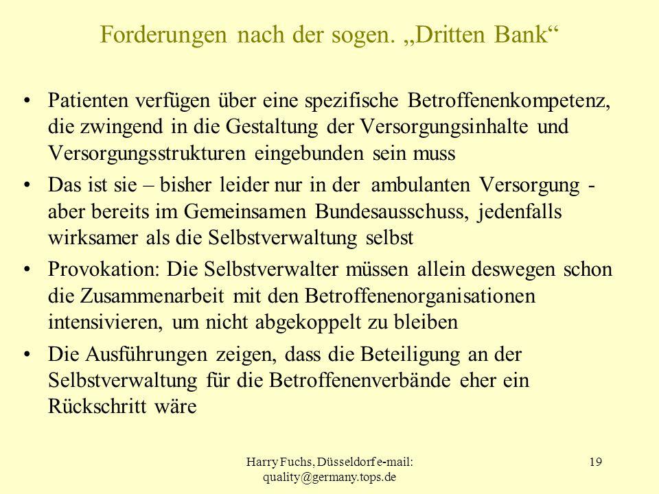 "Forderungen nach der sogen. ""Dritten Bank"