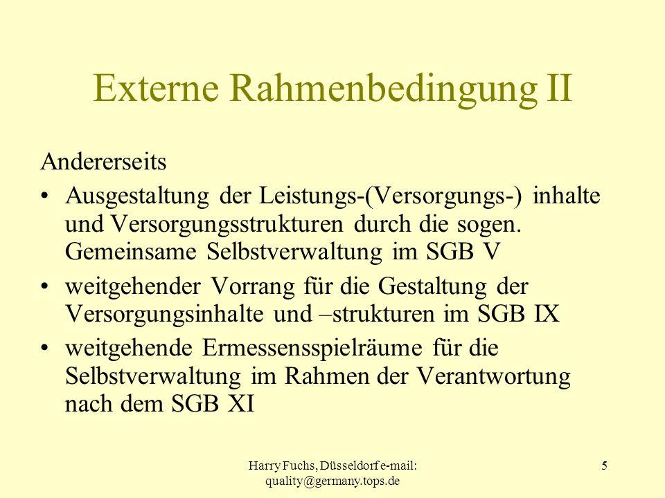 Externe Rahmenbedingung II