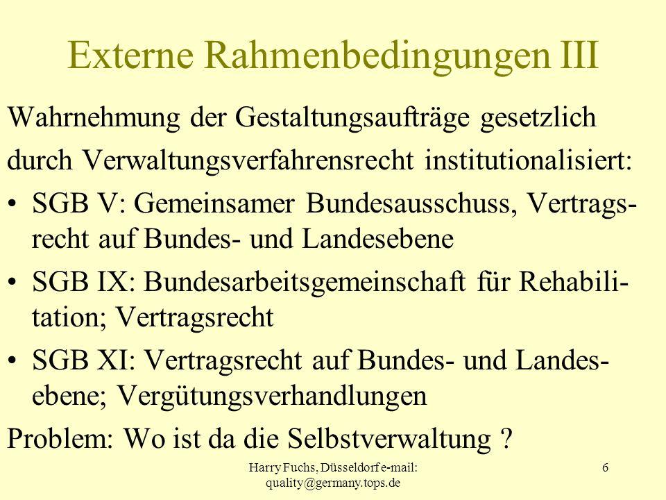 Externe Rahmenbedingungen III