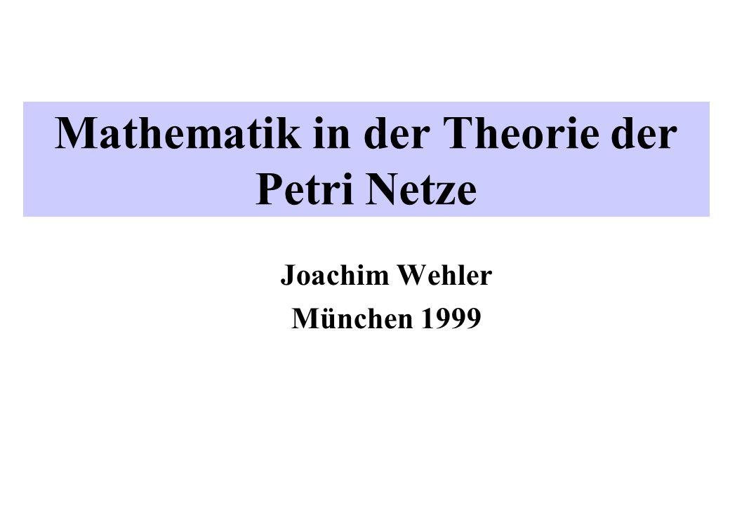 Mathematik in der Theorie der Petri Netze