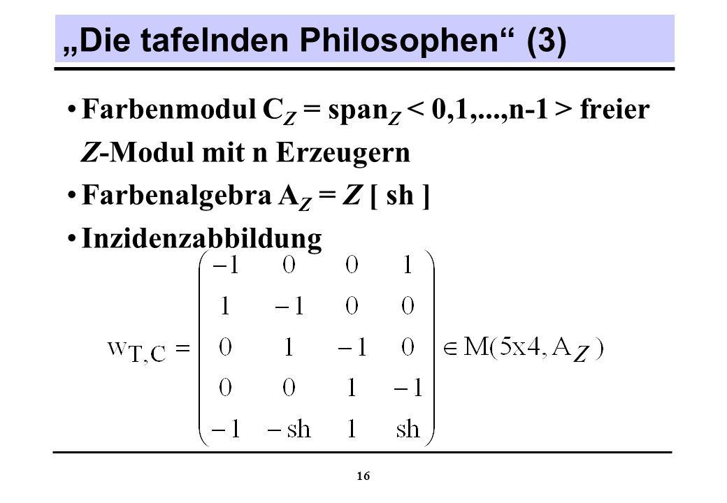 """""""Die tafelnden Philosophen (3)"""