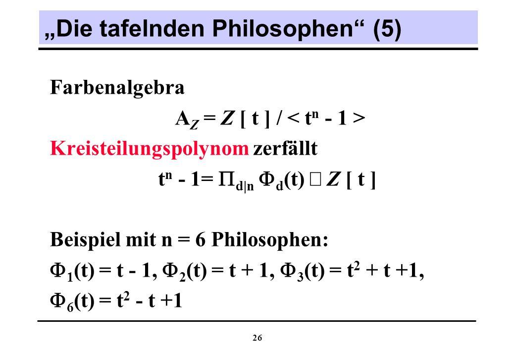"""""""Die tafelnden Philosophen (5)"""