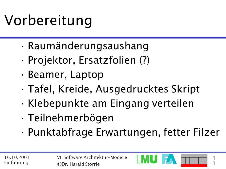Vorbereitung Raumänderungsaushang Projektor, Ersatzfolien ( )
