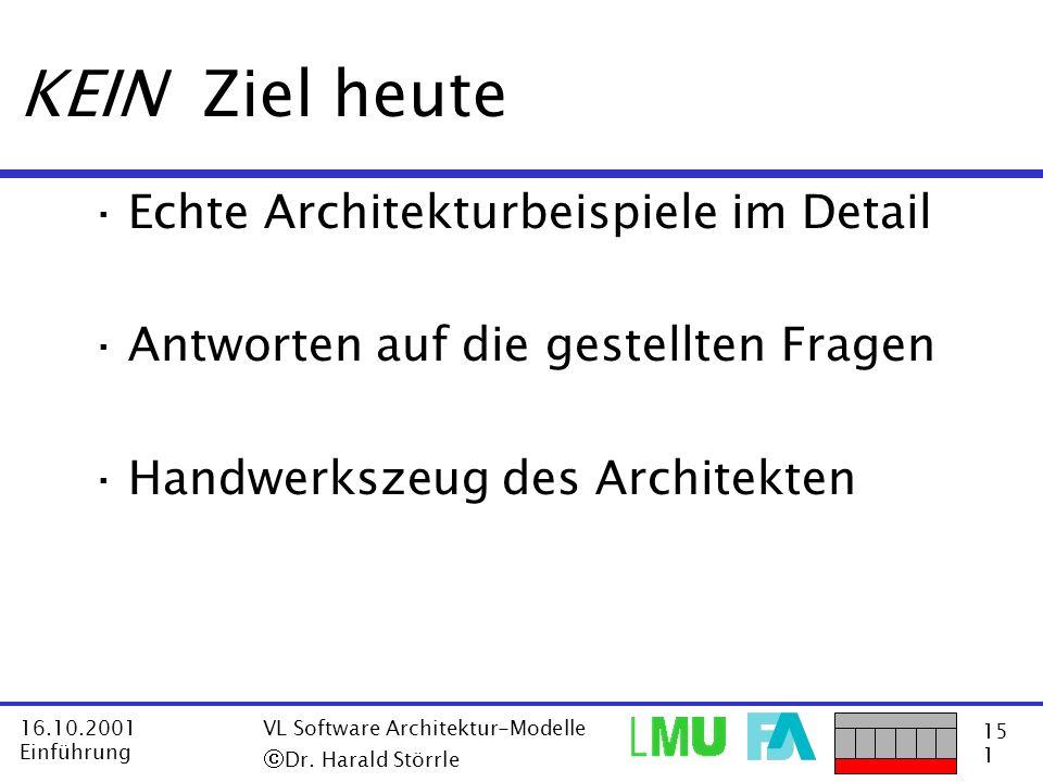KEIN Ziel heute Echte Architekturbeispiele im Detail