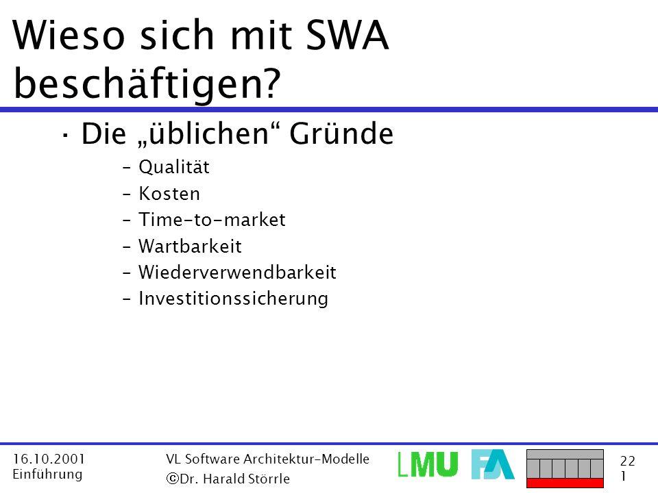 Wieso sich mit SWA beschäftigen