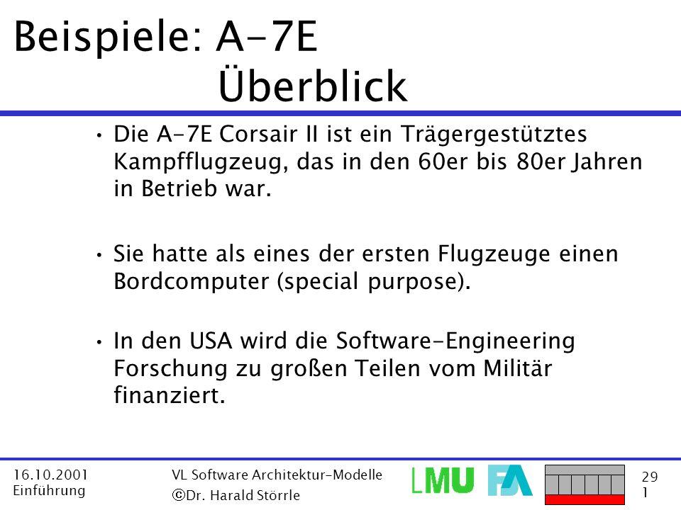 Beispiele: A-7E Überblick