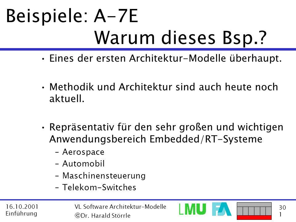 Beispiele: A-7E Warum dieses Bsp.