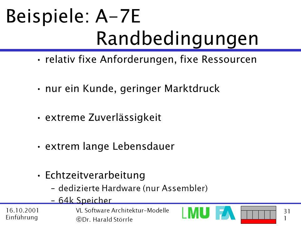Beispiele: A-7E Randbedingungen