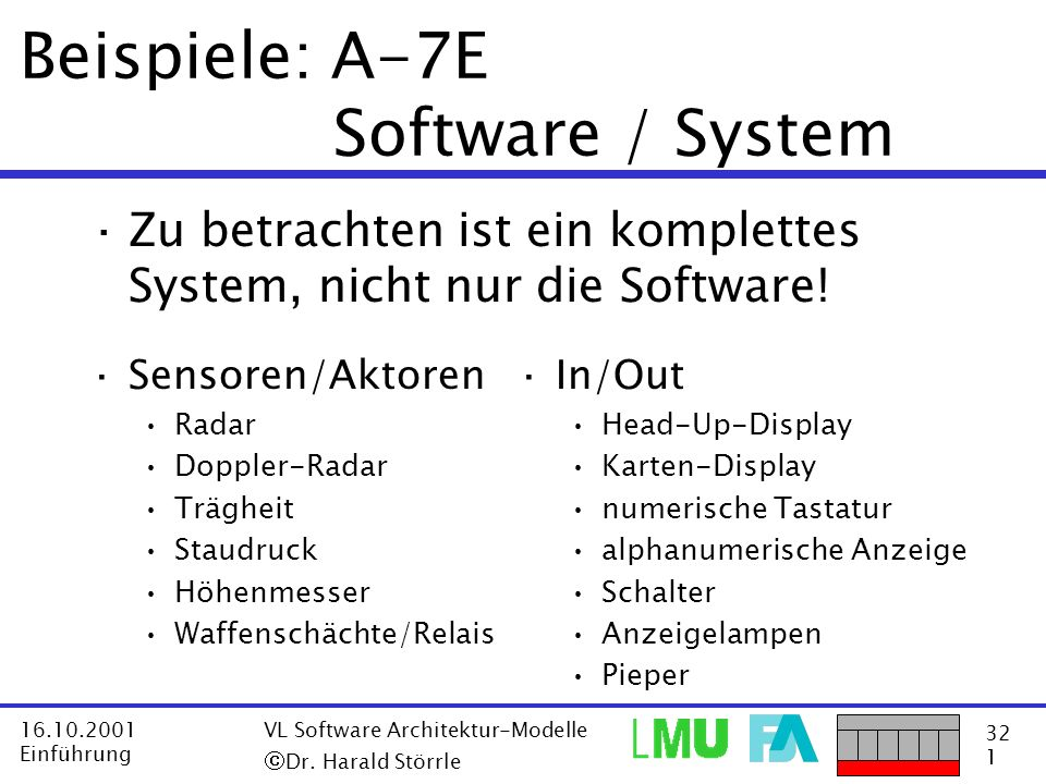 Beispiele: A-7E Software / System