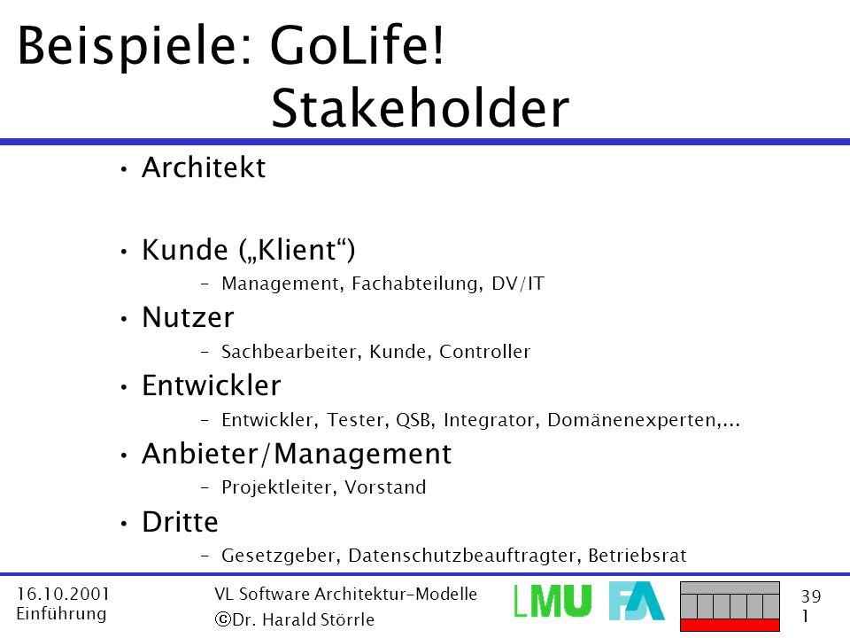 Beispiele: GoLife! Stakeholder
