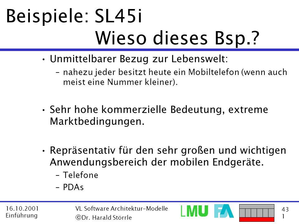 Beispiele: SL45i Wieso dieses Bsp.