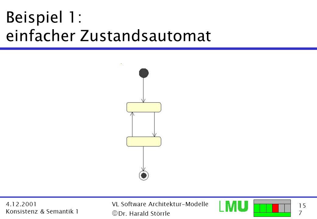 Beispiel 1: einfacher Zustandsautomat
