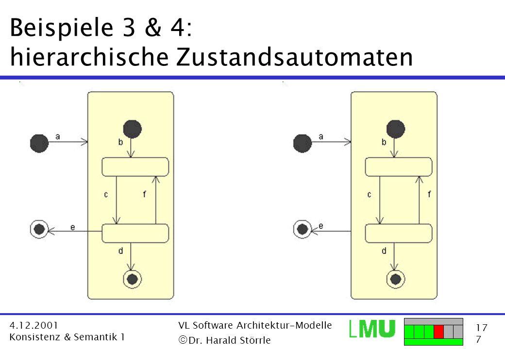 Beispiele 3 & 4: hierarchische Zustandsautomaten
