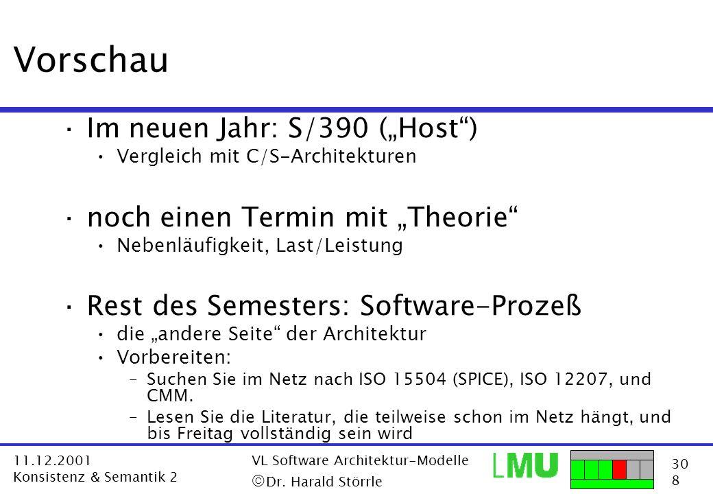 """Vorschau Im neuen Jahr: S/390 (""""Host ) noch einen Termin mit """"Theorie"""