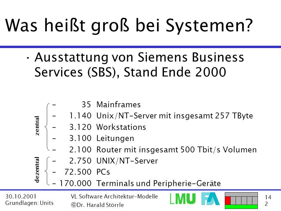 Was heißt groß bei Systemen