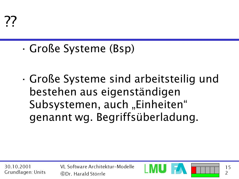 Große Systeme (Bsp)