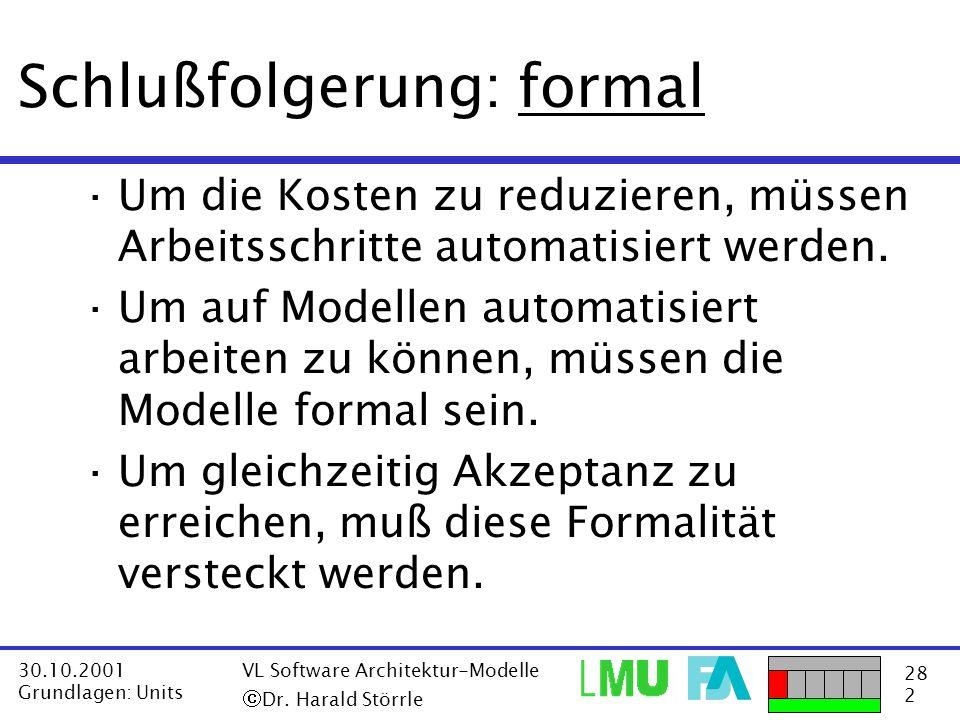 Schlußfolgerung: formal