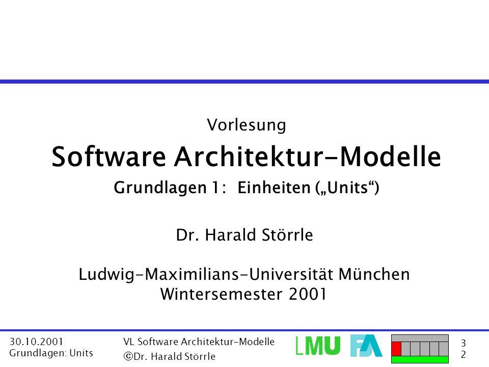 """Software Architektur-Modelle Grundlagen 1: Einheiten (""""Units )"""