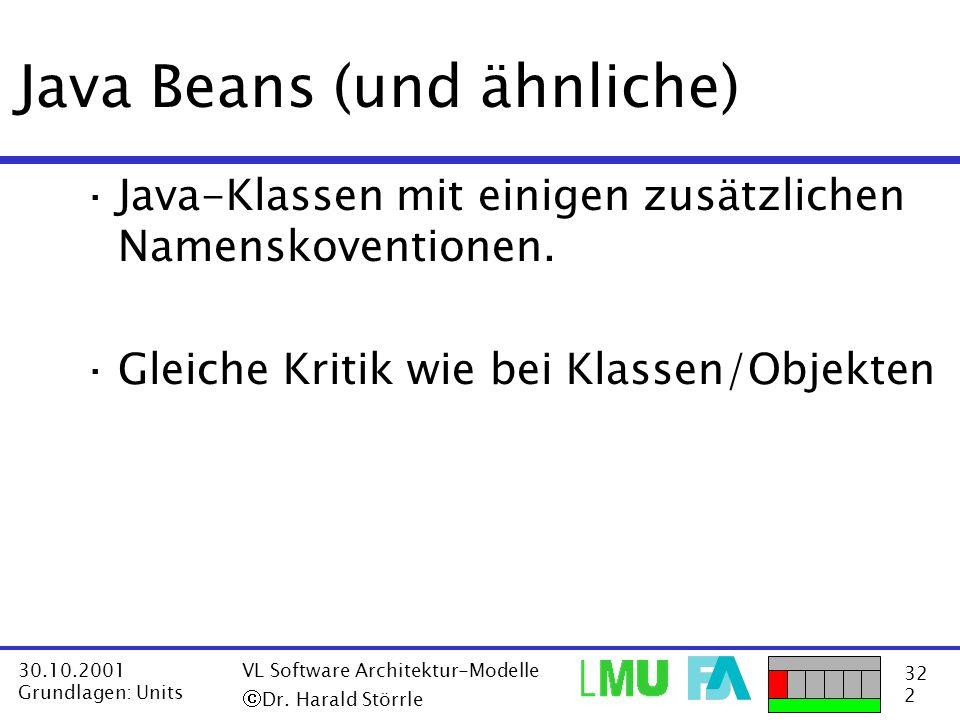 Java Beans (und ähnliche)