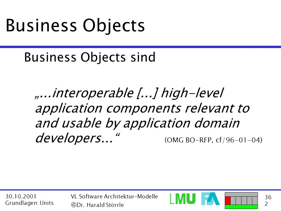 Business Objects Business Objects sind