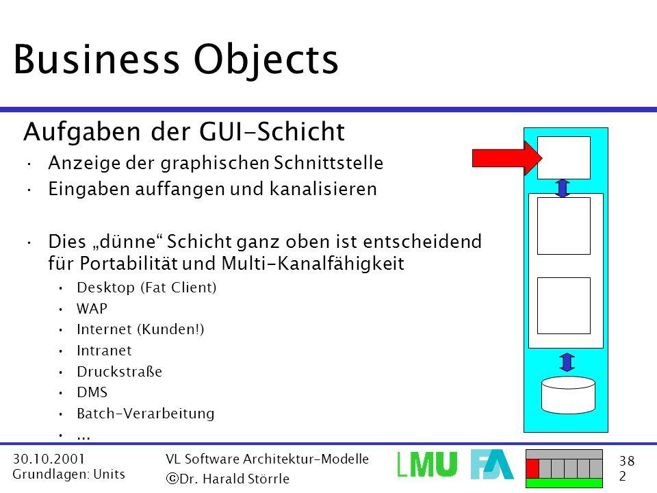 Business Objects Aufgaben der GUI-Schicht