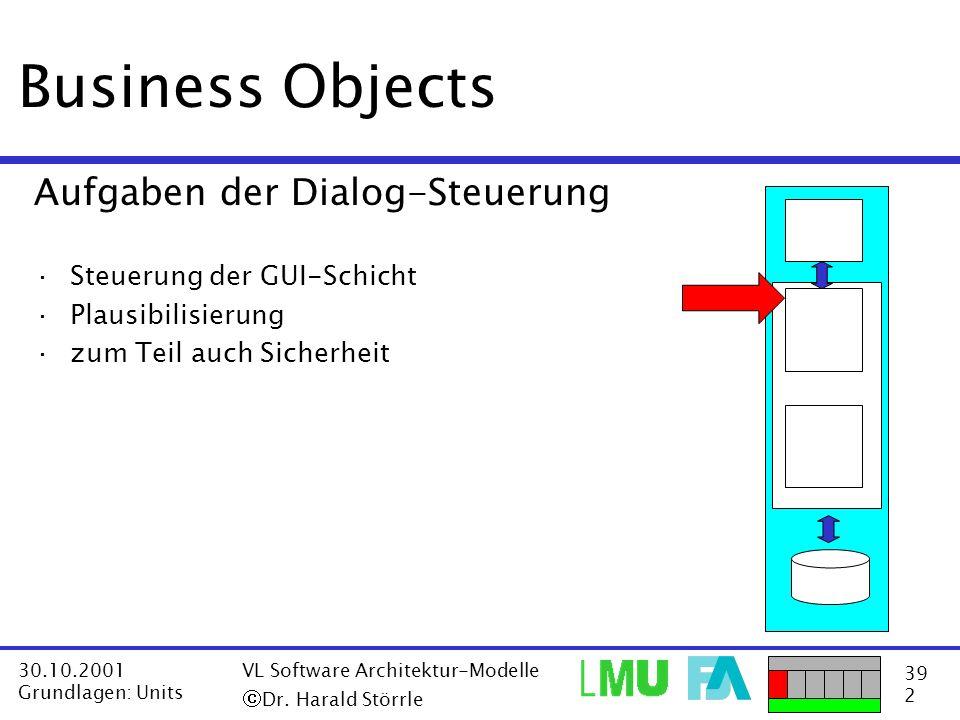 Business Objects Aufgaben der Dialog-Steuerung