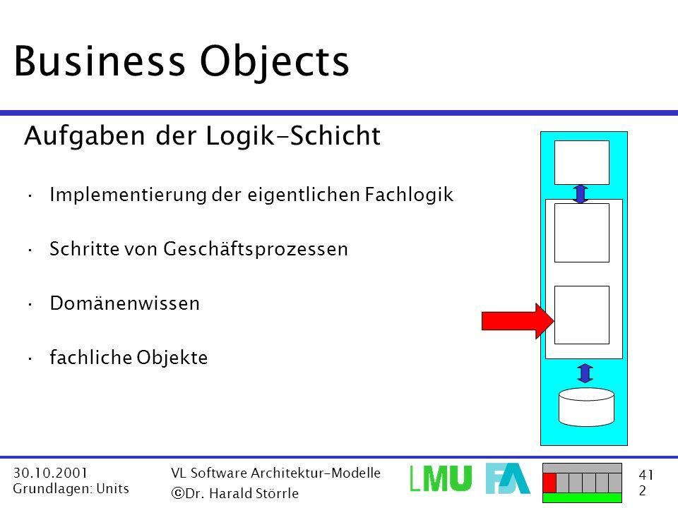 Business Objects Aufgaben der Logik-Schicht