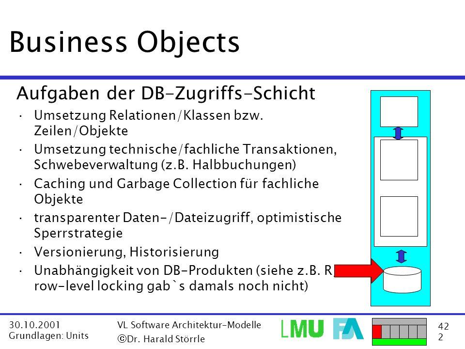 Business Objects Aufgaben der DB-Zugriffs-Schicht
