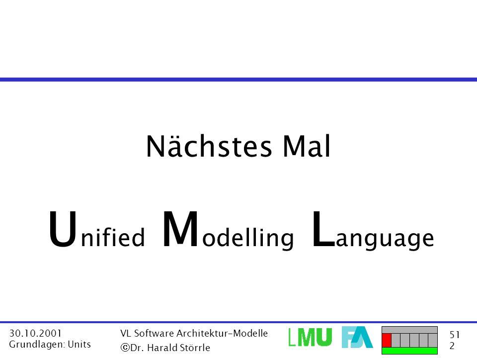 Unified Modelling Language