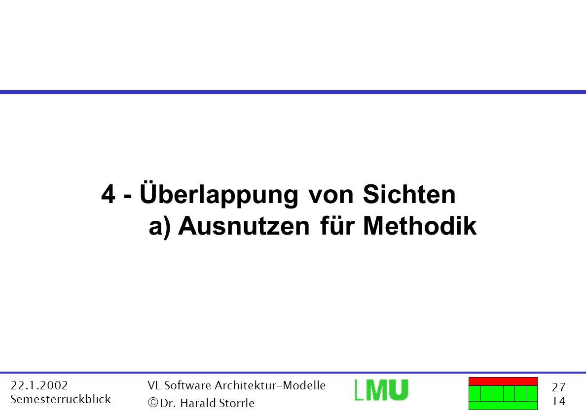 4 - Überlappung von Sichten a) Ausnutzen für Methodik