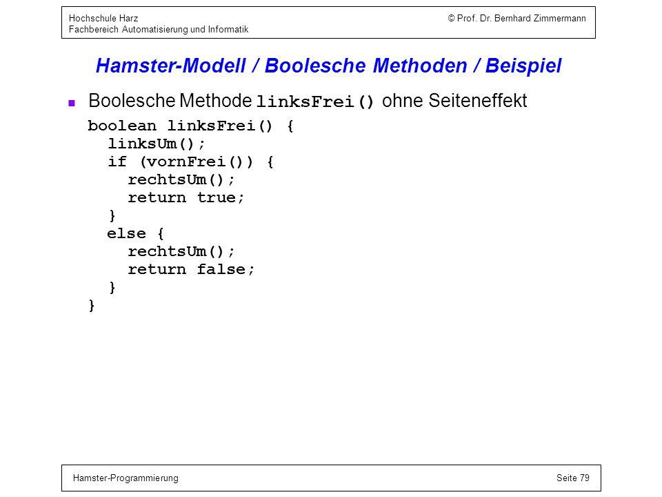 Hamster-Modell / Boolesche Ausdrücke / Eigenschaften