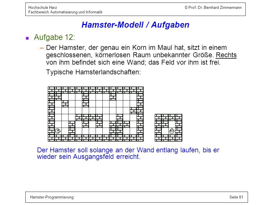 Hamster-Modell / Bedingte Anweisung