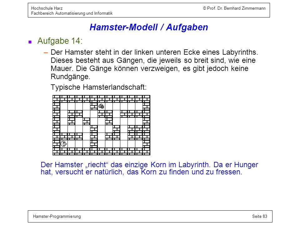 Hamster-Modell / Blockanweisung