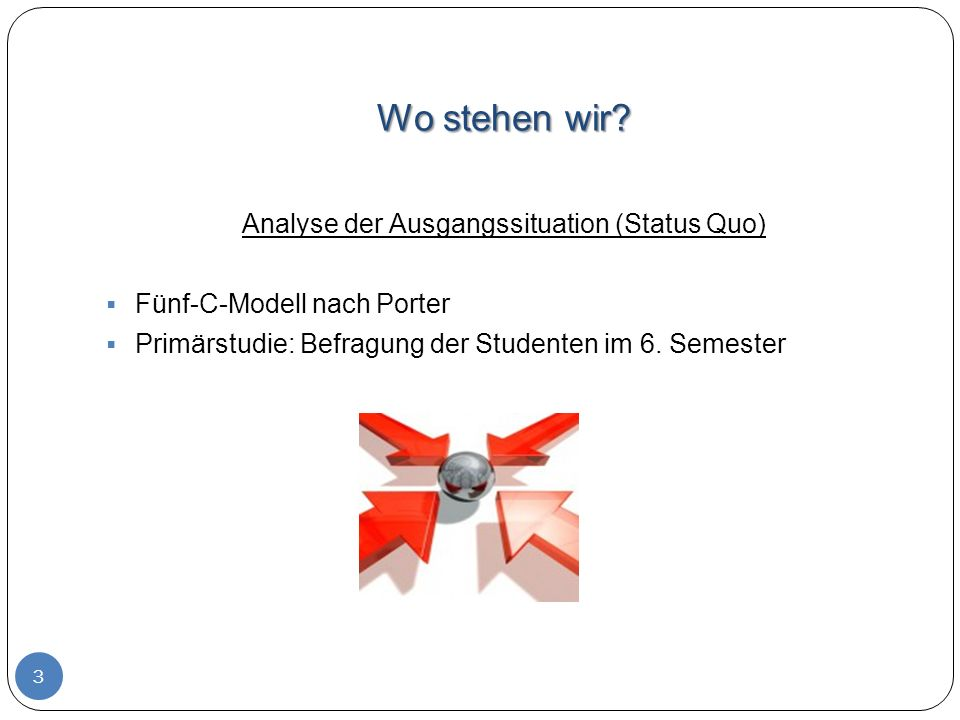 Analyse der Ausgangssituation (Status Quo)