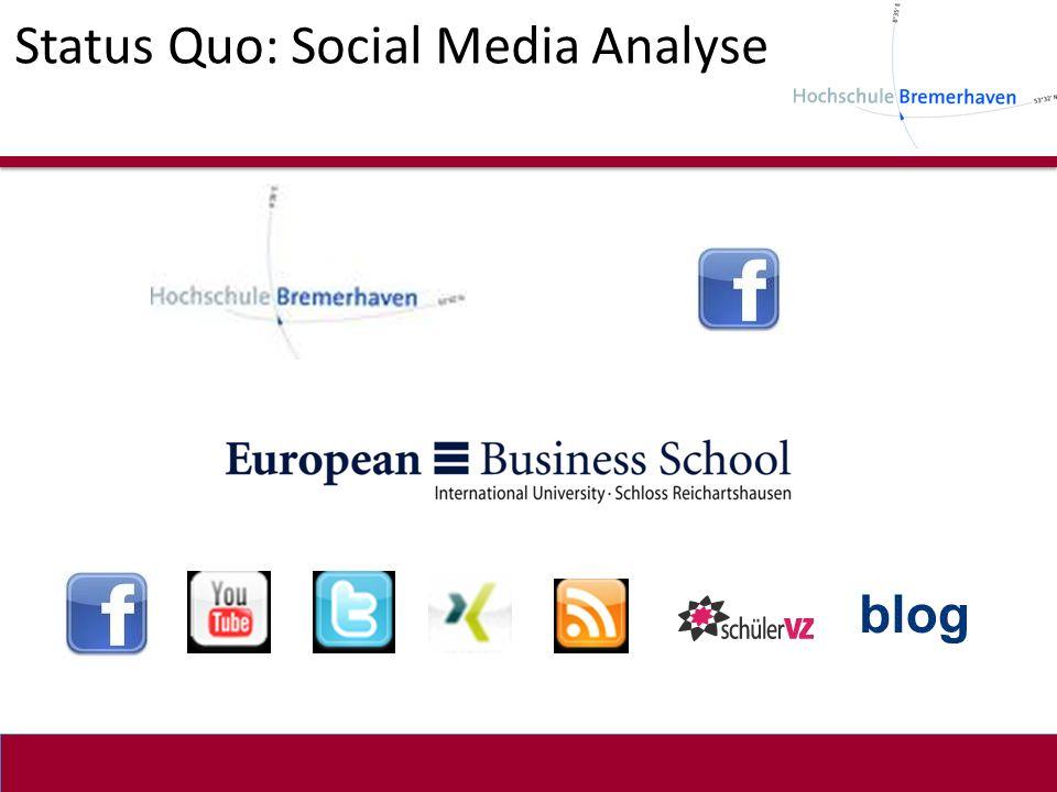 Status Quo: Social Media Analyse