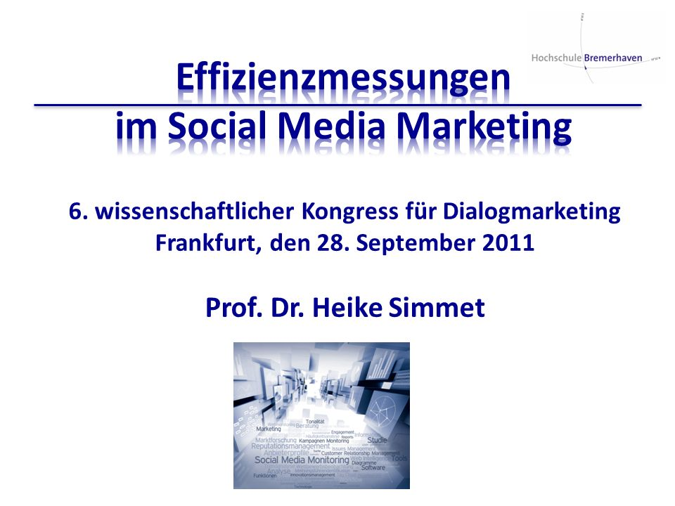 Effizienzmessungen im Social Media Marketing