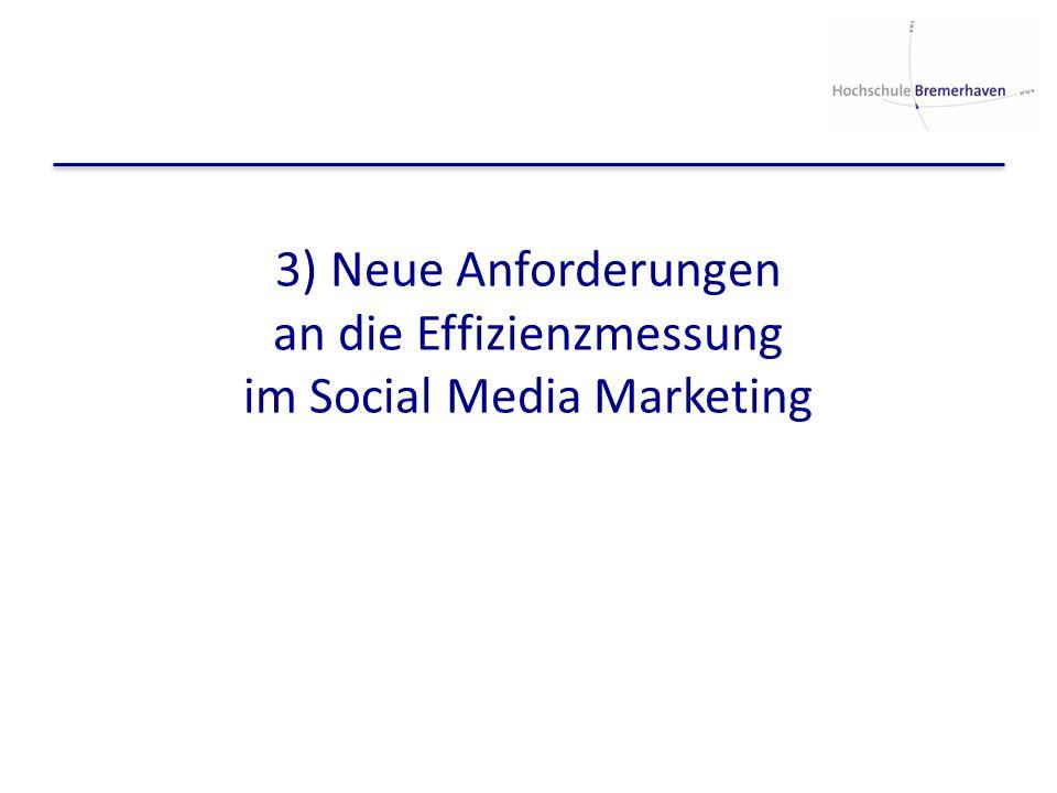 3) Neue Anforderungen an die Effizienzmessung im Social Media Marketing