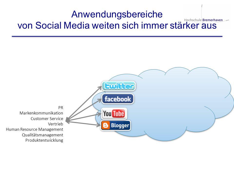 Anwendungsbereiche von Social Media weiten sich immer stärker aus