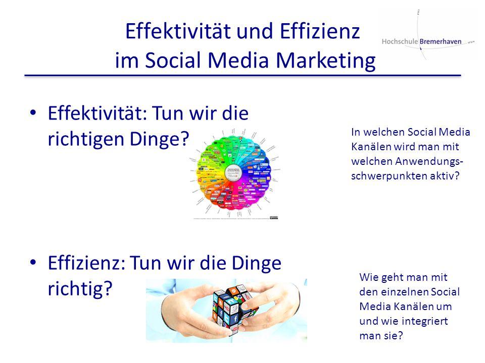Effektivität und Effizienz im Social Media Marketing