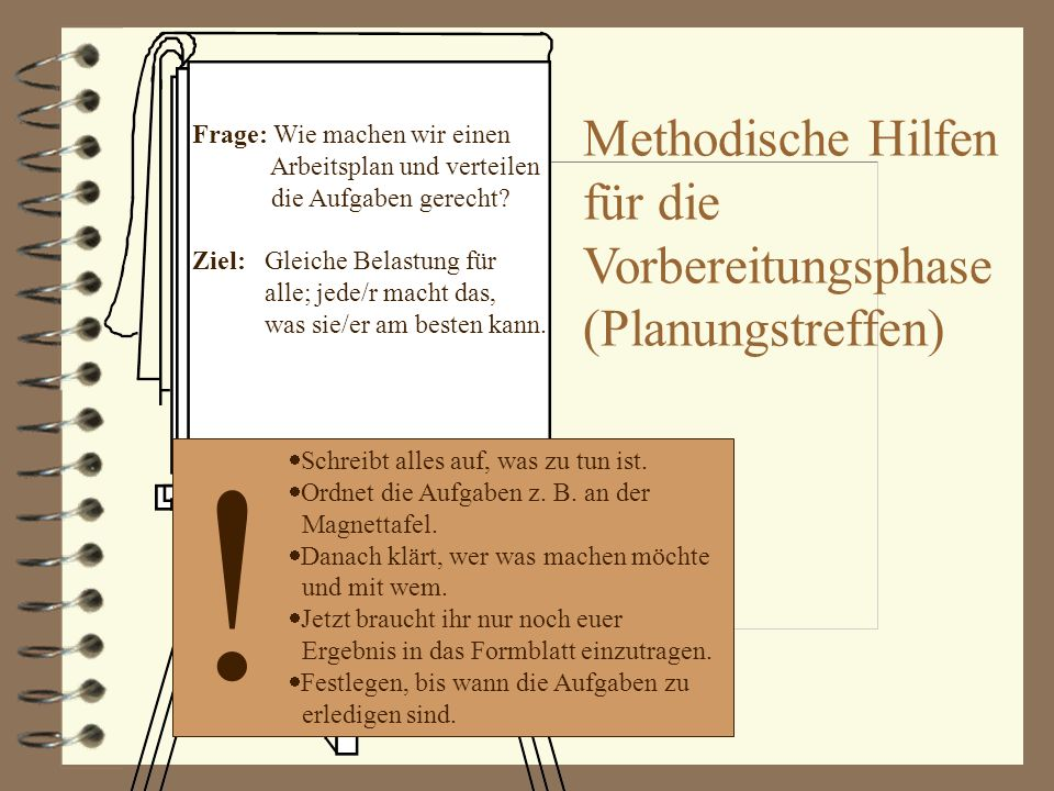! Methodische Hilfen für die Vorbereitungsphase (Planungstreffen)