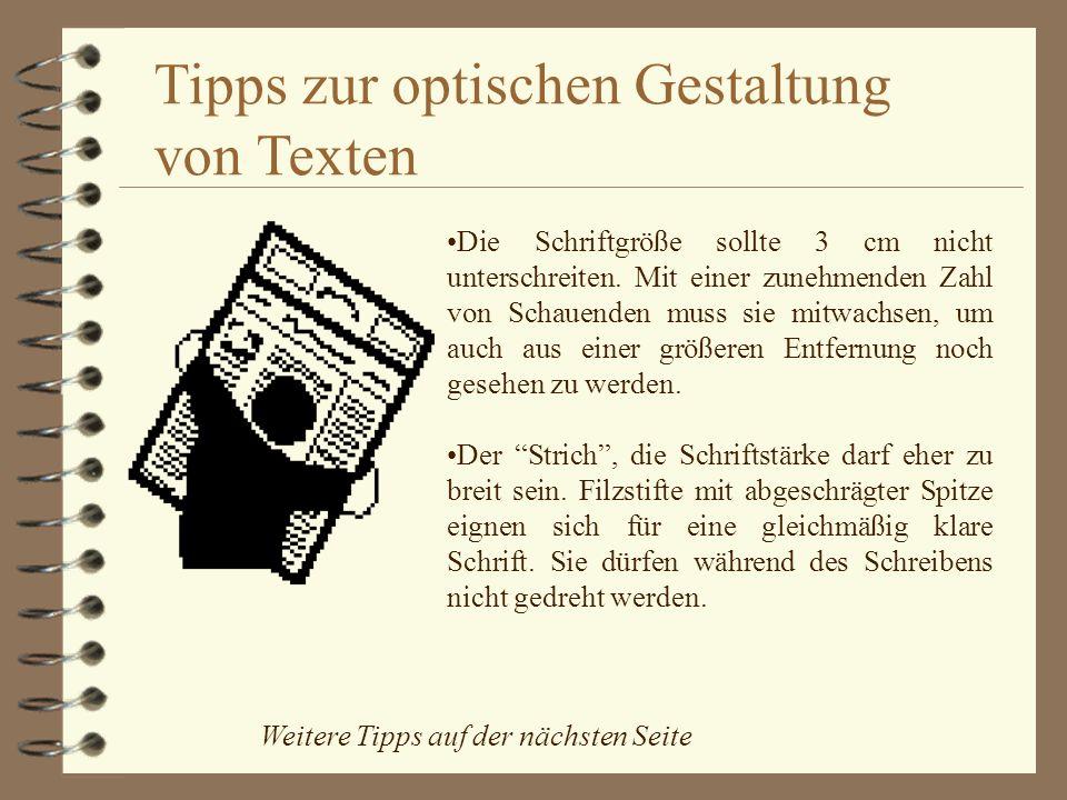 Tipps zur optischen Gestaltung von Texten