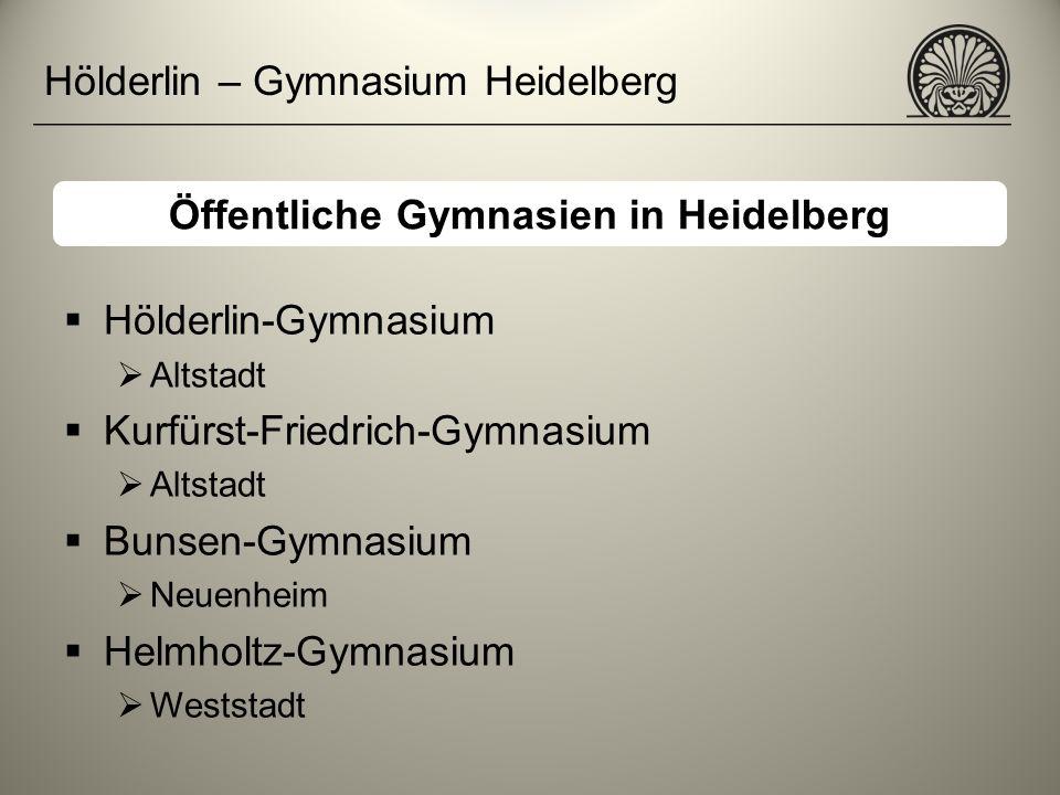 Öffentliche Gymnasien in Heidelberg