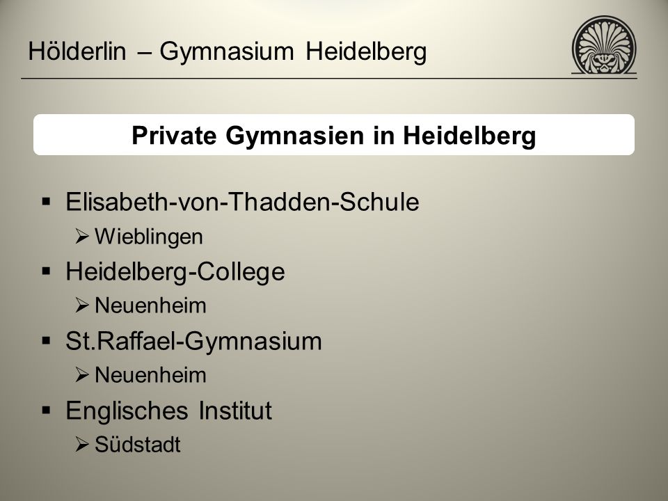 Private Gymnasien in Heidelberg