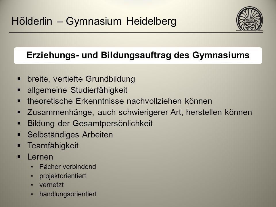 Erziehungs- und Bildungsauftrag des Gymnasiums