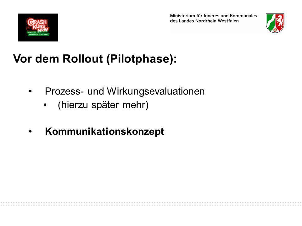 Vor dem Rollout (Pilotphase):