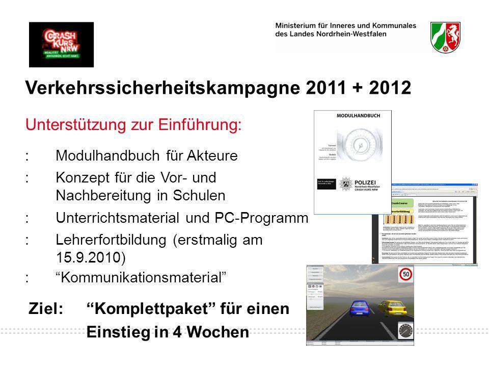 Verkehrssicherheitskampagne 2011 + 2012